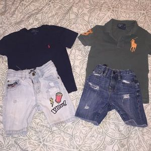 Two really cute Ralph Lauren shirts 3t and shorts